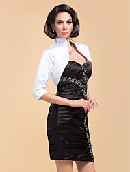 Fabulous 3/4-Length Sleeve Satin Special Occasion Evening Jacket/Wedding Wrap(More Colors) Bolero Shrug