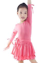 Dancewear Lovely Viscose Latin Dance Dress For Children More Colors