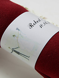 Personalized Paper Napkin Ring - Happy Wedding  (Set of 50)