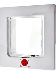 4 Way verrouillable Chien Chat Flap Porte Petit écran pour portes et fenêtres (15 x 15cm)