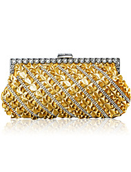 Elegant Satin with Crystals and Sequins Evening Handbag/Clutches(More Colors)