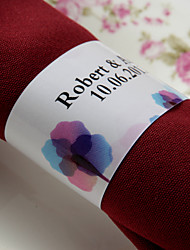 Personalized Paper Napkin Ring - Colorful Print (Set of 50)
