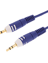 3.5mm 24K Gold Plated Oxygen-Free Copper Stereo Audio Cable (1.8M-Length)