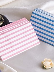 Pretty Stripe Guest Towels - Set of 12 Packs (More Colors)
