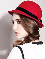 Mossant 100% Australian Woolen Red Bowler Hat (Umfang :56-58cm)