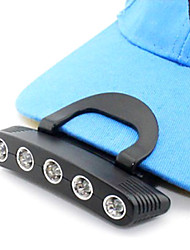 Hot 5-LED réglables en plein air Lumières chapeau léger de pêche (2xCR2032) S200014