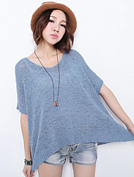 HSTYLE Loose Fit V Neck Short Sleeve Sweater