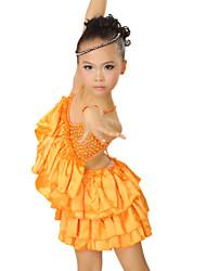 Spandex Vêtements performance et de robe de danse latine satin pour les enfants