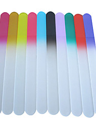 1PCS Glass Nail File Multi-color (Random Color,L)