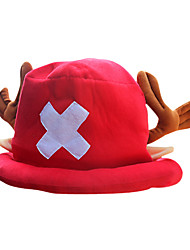 Hat/Cap Inspired by One Piece Tony Tony Chopper Anime Cosplay Accessories Cap / Hat Red Polar Fleece Male