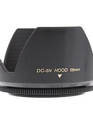 Mennon 58mm Parasol para objetivos de cámaras digitales Lentes 16mm +, 28mm Film +