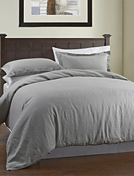 Solid Linen Linen 1pc Duvet Cover