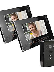 """9 """"цветной видео-телефон двери с SD Record Picture Card, принимая Фото (1 камера до 2 мониторов)"""