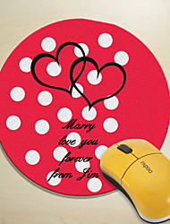 Personalized Mouse Pad - Hearts