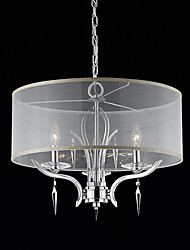 Max 50W Modern/Contemporary / Drum Crystal Chrome Chandeliers Living Room / Bedroom / Dining Room / Study Room/Office