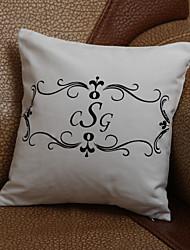 Подарки невесты подарок персонализированные простой цветок печати наволочку (подушки не включены)