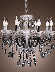 Candela in vetrina 8 - Lampadari leggeri con gocce di cristallo grigio