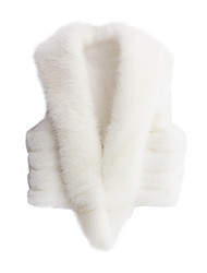 Fur Vest With Sleeveless Shawl Collar In Faux Fur Casual/Party Vest (More Colors)