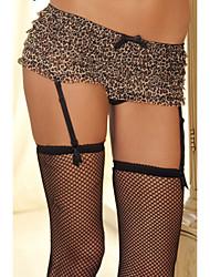 Women's Sexy Leopard Panties with Garter Belt