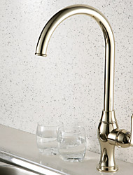 Antique Style Ti-PVD Finish Centerset Brass Kitchen Faucet