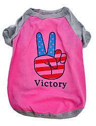 Sieg amerikanischen Muster Baumwolle T-Shirt für Hunde (XS-L)