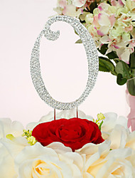Cake Topper Non-personalized Chrome Wedding / Anniversary / Quinceañera & Sweet Sixteen / Birthday Rhinestone Classic Theme PVC Bag