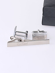 Gift Groomsman Personalized Classic Cufflinks And Tie-bar