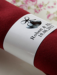 Personalized Paper Napkin Ring - Love (Set of 50)
