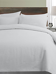 2-Piece Castro Mini Circle Woven Ivory Twin Duvet Cover Set