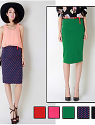 Elástico de la Mujer Falda cintura alta Mediodía