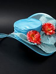 Satin Belle / dentelle / Alloy Avec de mariage de fleur / Faire la fête / Lune de miel Hat