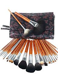28PCS Mink Hair Professional Makeup Brush Set with Beautiful Design Bag