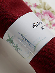 Personalized Paper Napkin Ring - Beach Theme (Set of 50)