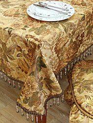 Khaki Polyester Table Cloths