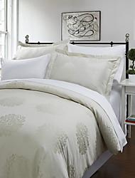 3-teiliges negro Blume beige Jacquard Bettbezug Set