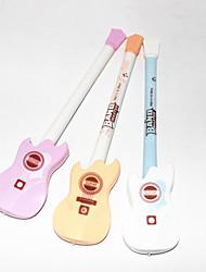Guitar Plastic Negro Gel Ink Pen (colores aleatorios)