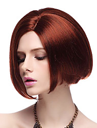 Capless High Quality Synthetic Red Straight BOB Hair Wigs