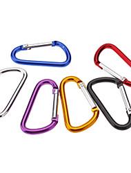 Piccolo D a forma di moschettone in lega di alluminio (colori assortiti)