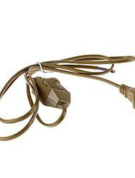 US 2 Pin Plug commutation de ligne avec gradateur (6A 250V)