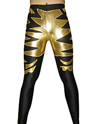 Nero e oro lucido pantaloni metallici