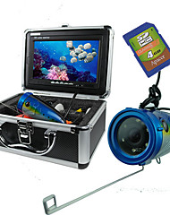 "15m Cable 7"" TFT Monitor 600TVL 120 Degree Fishing Underwater Recording Camera"