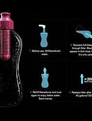 actieve kool filteren 400 / 580ml water fles (willekeurige kleur)