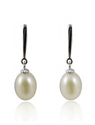 Fabulous 925 Sterling Silver Pearl Drop Earrings