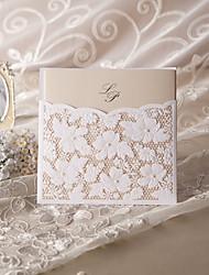 образца элегантные цветочные свадебные приглашения разреза (один комплект)