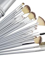18PCS de haute qualité professionnelle Silver Gray Brush Set cosmétique