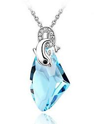 eruner®austrian кристалл циркона дельфин рисунок ожерелье (разных цветов)