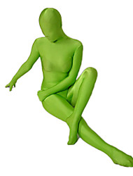 Disfraces Zentai Ninja Zentai Disfraces de Cosplay Verde Un Color Leotardo/Pijama Mono / Zentai Licra Spándex Unisex Halloween / Navidad