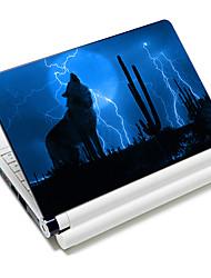 """""""Shadow Wolf"""" ordinateur portable autocollant de modèle de protection de la peau pour 10 """"/ 15"""" ordinateur portable 18616 (15 """"adapté à moins de 15"""")"""