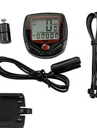 PVC Material Drahtlose 15 Funktionen wasserdicht Fahrradcomputer YS-268A (Schwarz)