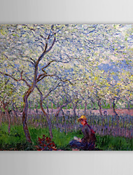 Famous Oil Painting An Orchard in Spring by Claude Monet